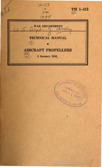 United States. War Department - TM 1-412 Aircraft Propellers 1944