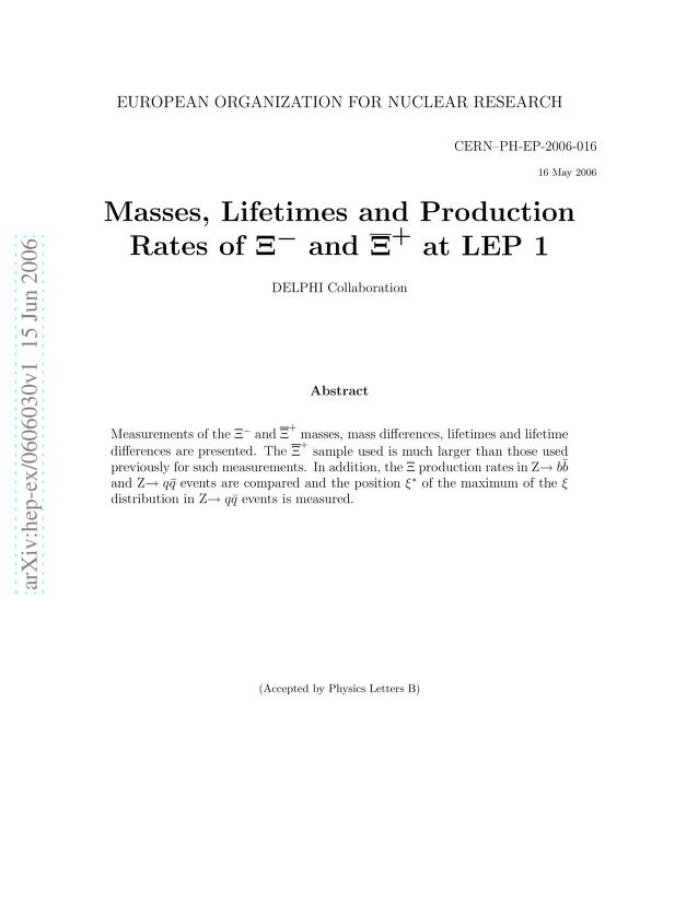 The DELPHI Collaboration - Masses, Lifetimes and Production Rates of Xi- and anti-Xi+ at LEP 1