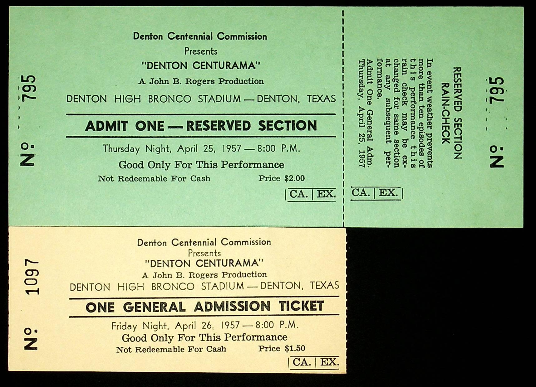Denton Centurama Tickets